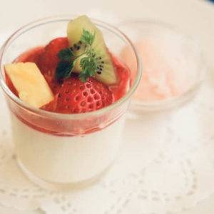 Strawberry flavor pudding powder
